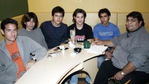 Akram Darwich, Gerardo Medellín, Julio Núñez, Eduardo Villarreal, Anwar Darwich e Iván Cabello.