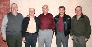 Javier Iriarte, Ramón Iriarte, Salvador Jalife, Armando Martínez y Rodolfo Castro, en pasado acontecimiento.