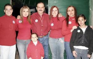 Juan Francisco Suárez, Mónica Campillo, Óscar Rodríguez, Carmen Sanvicente, Laura Sánchez y Regina Campillo.