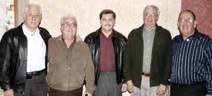 Luis Rodríguez, Manuel Fernández, Hugo Sánchez, Arturo J. Giacoman y  Rodolfo Castro.