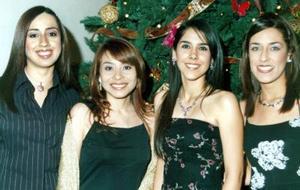 Linda Hernández, Desiré  Gutíerrez, Nidia Chapa y Gabriela Gómez.