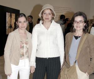 Alejandra Aguilar, Elia Domingo y Esther Arce