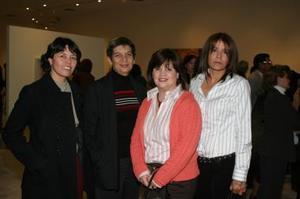 Silvia López, Karla Baraona, Anabel de Madero y Elizabeth Espinoza