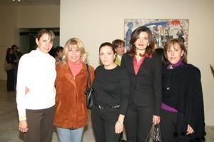 <b> 23 de enero de 2005</b> <p> Verónica Meléndez, Olivia Quezada, Yesema Tiznado Lourdes Bernal y Maru Covarrubias