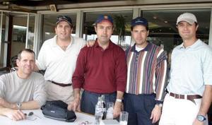 Jorge Montaña, Francisco Garza, Juan Carlos Tinoco, Enrique Palma y Rafael Deglado