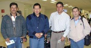 Faustino Salazar, Arturo Anaya, Gerardo Montero y José  Cortez viajaron a Culiacán.
