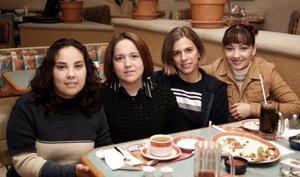 Adriana Ortiz, lily Elizalde, Sonia Byerly y Laura Ochoa.