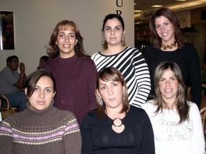 Eklisa Mena, Merika de Jardón, Anabel Quintanilla, Gaby Santos, Rocío del Río y Mayra Ochoa.