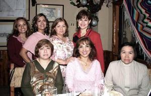 Idalia ESparza, Audelia Orona, Sandra Luz Sánchez, Olga Lucía Fernández, María Eugenia Soto, Martha García y Rosa Elena Ruvalcaba.