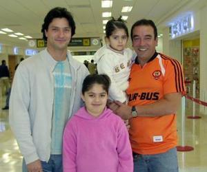 Jorge Hornos, Guillermo Costa, Ilaren  y Claudia viajaron con destino a Brasil