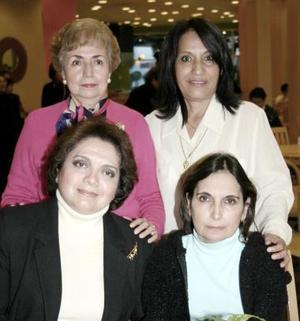 Rocío del Río, Pily de Faedo, Lucy de Ramírez y Coco de Hernández  captadas recientemente