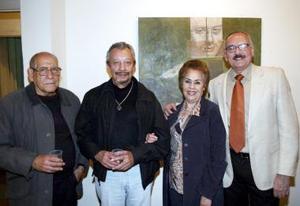 Rubén Villarreal, Mario Zaragoza, Rosa Palafox y Sergio Chapoy.