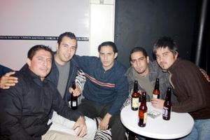 Andrés Islas, Víctor Alvarado, Luis Carrillo, Felipe Ramírez e Iván Lara