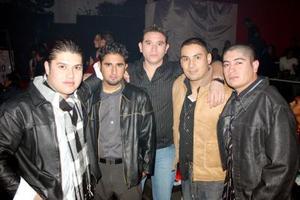 Miguel Vázquez, Antonio Véiz, Joel Eduardo, Miguel Morón y Aldo Alvarado