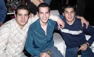 Akdi Caldera, Luis Rodríguez y Jesús Ordaz.