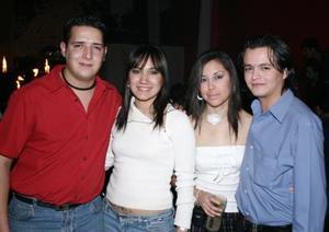 Fernando García, Martha Téllez, Mary Ramírez y Paco Arroyo