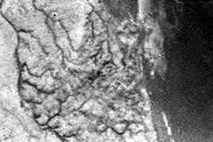 Las fotos fueron tomadas desde una altura de unos 16 kilómetros sobre la superficie, a medida que la sonda descendía en paracaídas para posarse sobre la superficie