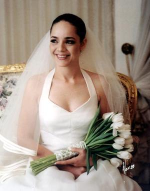 G.M. Marcela Pérez Sánchez, el día de su boda con el L.A.E. Alfredo Leal Peña.