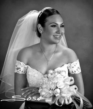 Lic. Jéssica Maricela Martínez Rodríguez el día de su boda con el Lic. Miguel Ángel Montoya Salcido.