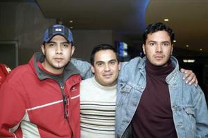 Roberto Carlos Martínez, Manuel Jaramillo y Raún Hernández.