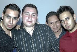 Armando Ibarra, Iván Álvarez, Luis Anaya y Luis Salas.
