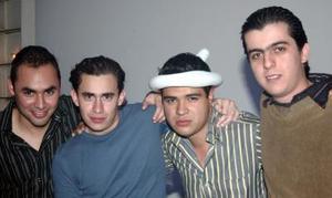 Ricardo Cano, Agustín Reynosa, Kike García y Gerardo Cuesta.