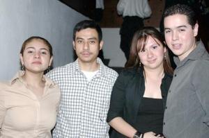 <b>27 de febrero de 2005</b> <p> Tere Carrillo, Jaime Tenorio, Laura Albarrán y Gerardo Espino