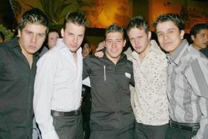 Jorge Luna, Maury Martínez, Jerson Martínez, Daniel Leal y Roberto Goitia.
