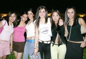 Alina Flores, Dariela Cabral, Daniela Quezada, Any Arratia, Fanny Álvarez y Jimena Adame.