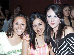 Conchita Limones, Ilse Cisneros y Adriana Salazar