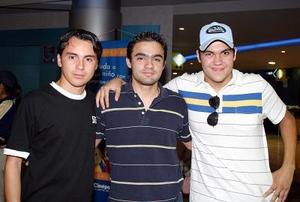 Alberto Castil, Bernardo González y Javier Fuentes.