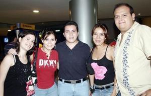 Elizabeth Sánchez, Aracely Goray, Elías Fahur, Alicia Villegas y luis David Betancourt.