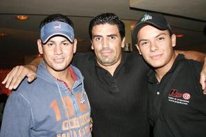 Jorge Sordo, Sergio Ayup y Milton Loera.