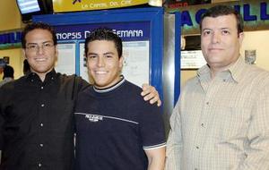 Miguel Campos, Luis Campos y Luis Alberto Campos.