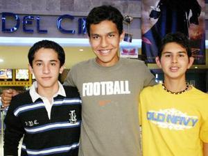 Luis Arguijo, César Pompa y Omar Serrano.