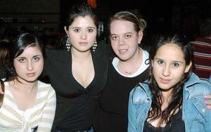 Mariana Berumen, Natalia Herrera, Ale Brambila, y Naville Reina