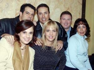 Ricardo y Patricia Arenal, Javier y Bety Martínez, Eduardo y Rosy Rivas.
