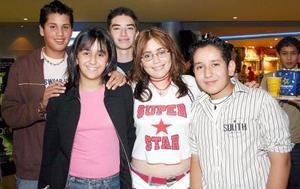 Tani Borrego, Lucía Barocio, Javier Montiel, José Siller y Manuel Torres.