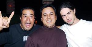 Edgardo Gálvez, Juan Aguirre y Bernardo Arroyo.