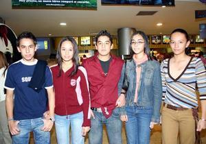 Gerardo Dorado, Ana Laura, Gerardo Soto, Mariel y Karla.