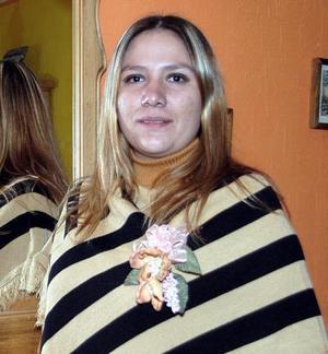 Úrsula  María Leija Favela, captada en una de sus últimas despedidas de soltera.