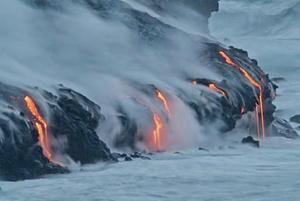 El Parque Nacional de Volcanes de Hawai también alberga al volcán Mauna Loa, el más grande del mundo.