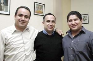 César Oviedo, Alberto González y Jesús Herrera