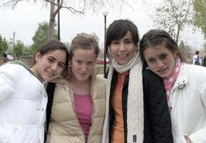 Daniela Garza, Paty Barroso, María  Sofía González y Cristy Ruiz