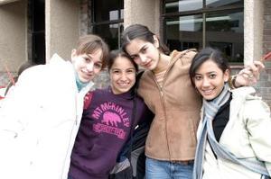 María René Obeso, Isabel Soto, Dany Sesma y Stefy Miranda