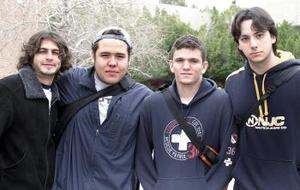 Piru Cepeda, Ricardo Humprey, Felipe García y Diego Medellín
