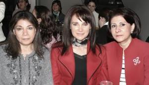 Dora Alicia de  Váldez, Esthela de Diez y Patricia de Anaya.