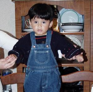 <b>05 de febrero de 2005</b> <p> El pequeño Alejandro Quintero Delgado, captado el día de su fiesta.