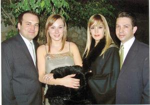 Jorge Pérez Garza, Rosario Silvia de Pérez, Mariángel Sirgo González y Marco Landeros Treviño