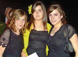 Isabel Sesma, Ana Fernanda Bremer y Cristina Bremer